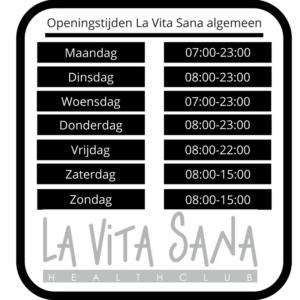 Openingstijden La Vita Sana