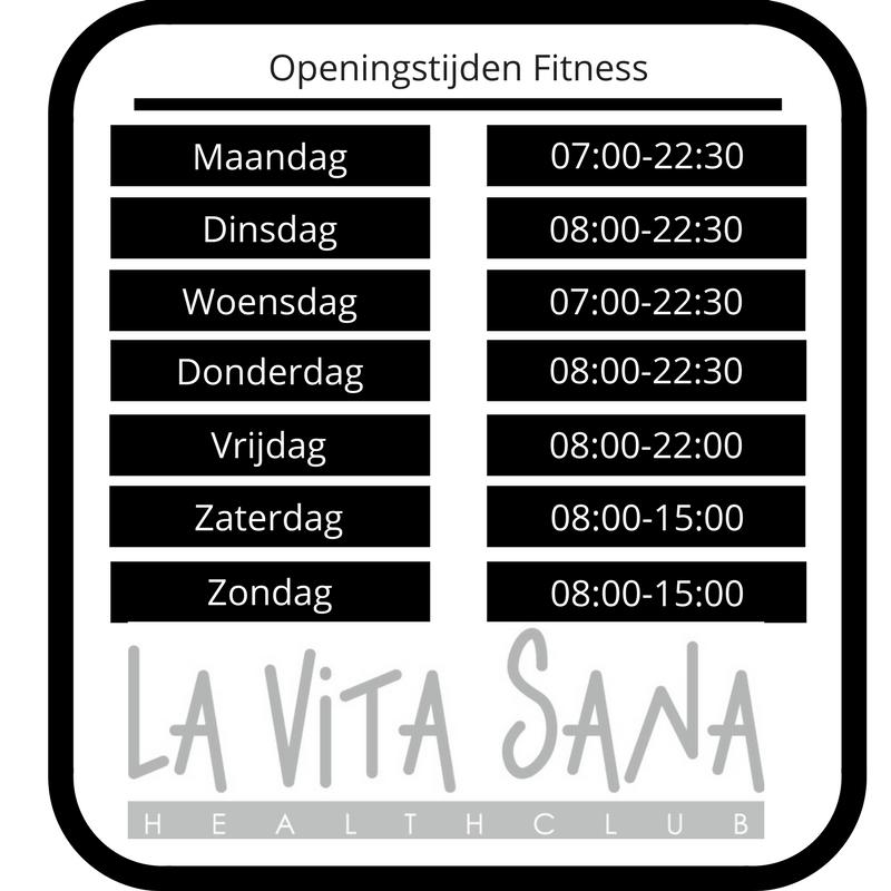 Openingstijden fitness La VIta Sana